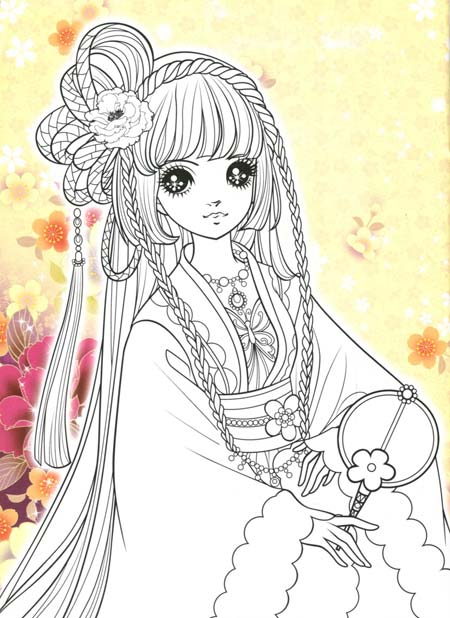 可爱卡通公主简笔画