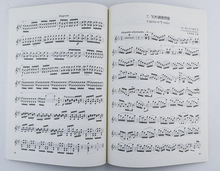小提琴随想曲的曲目,大都属于难度较高的练习曲范畴,如罗德,顿特,罗维