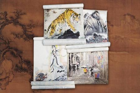团购:90年代宣纸印制画片4种(每种6大张)
