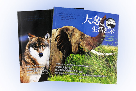 """""""自然人文馆""""两册,铜版纸全彩图文,世界级专家数十年研究成果,为你全面呈现【狼】与【大象】的生活艺术!全面、生动的百科全书,数百张生动的精美照片,极富生活气息,揭去狼神秘的面纱,锁定大象生命历程中的每一个精彩瞬间,立体展现它们丰富多彩的日常生活。保护狼与大象,从了解它们开始!印制精良,图片极具视觉冲击力,既适合阅读收藏,也适宜赠送亲朋好友。定价136元,现团购价36元,全国包快递!"""