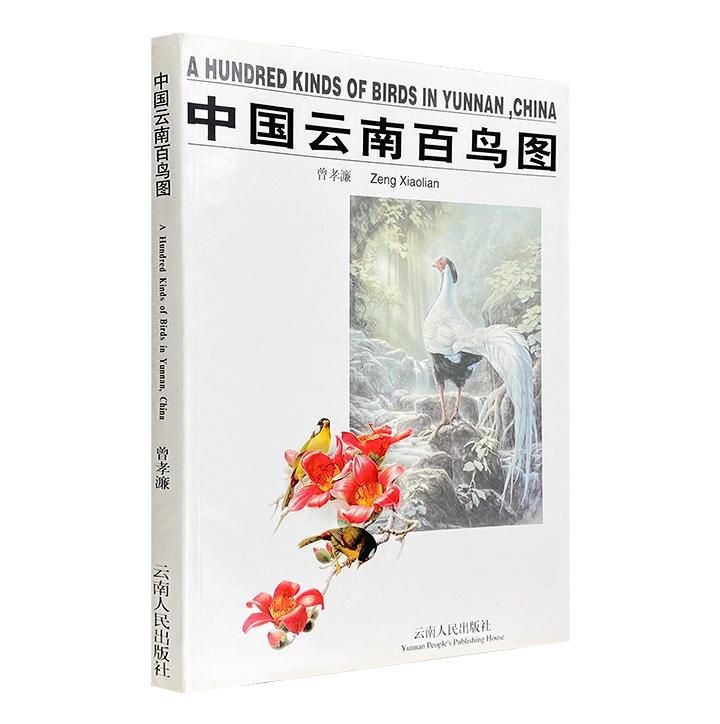 中国著名植物科学画家曾孝濂《中国云南百鸟图》,16开铜版纸全彩,102种云南鸟类图像,融汇中西技法,鸟羽华丽、色彩斑斓、纤毫毕现,宜赏宜藏。