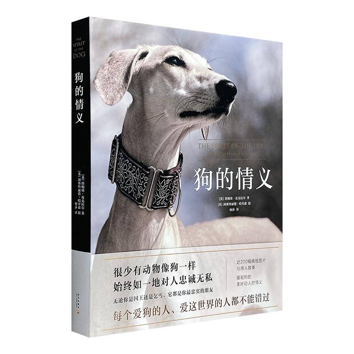 世界名犬总动员!《狗的情义》8开精装,铜版纸全彩,近200幅精致图片和细腻文字,考察90个犬种的发展历程,述说狗与人类的相依相伴,展现狗狗美好动人的情义。