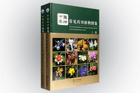《中国秦岭常见药用植物图鉴》全两册,大16开精装,铜版纸全彩图文,收录我国秦岭500种常见药用植物种类,总达500余页,配有高清彩色图片1120余幅。所收植物包括苔藓类、蕨类、裸子植物和被子植物,所载内容包括植物的中文名、拉丁学名、别名、所属科属、药用部位、性状、分布、主要化学成分、功能与主治等,全面反映了秦岭常见药用植物的生长分布、医药研究、临床应用及民间药用情况。